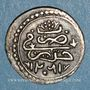 Monnaies Algérie. Ottomans. Abdoul Hamid (1187-1203H). 1/8 de boudjou 1202H. Alger