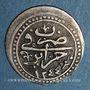 Monnaies Algérie. Ottomans. Mahmoud II (1223-1255H). 1/8 boudjou 1244H. Alger