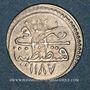 Monnaies Anatolie. Ottomans. Abd al-Hamid I (1187-1203H). Para 1187H / an 14, Constantinople