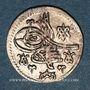 Monnaies Anatolie. Ottomans. Ahmad III (1115-1143H). Para (cuivre argenté) 1115H, Qustantiniya