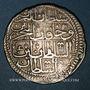 Monnaies Anatolie. Ottomans. Mahmoud I (1143-68H). Yirmilik 1143H / marque d'atelier : 'ayn-alif,  Constanti