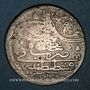 Monnaies Anatolie. Ottomans. Mahmoud I (1143-68H), Yirmilik 1143H / marque d'atelier : 'ayn-alif,  Constanti