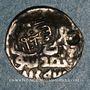 Monnaies Asie centrale. Timurides. Timur et Suyurghatmish (771-790H). Dirham contremarqué (7)85H, Samarqand