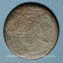 Monnaies Balkans. Ottomans. Bronze, 5 Para 1255H/ An 22, contremarqué