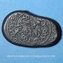 Monnaies Géorgie. Bagratides. Giorgi IV Lasha (1207-1223). Bronze irrégulier ; rare et magnifique exempla