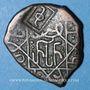 Monnaies Géorgie. Bagratides. Rusudan, reine (1223-1265). Bronze irrégulier contremarqué