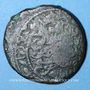 Monnaies Géorgie. Bagratides. Thamar, reine (1184-1213). Bronze irrégulier contremarqué, rare variété de
