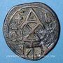 Monnaies Géorgie. Bagratides. Thamar (reine) et David III (1184-1213). Bronze contremarqué