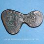Monnaies Géorgie. Shahs du Khwarezm. Jalal ed-Din Mangubarni (617-628H). Bronze irrégulier  multiple, contr