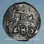 Monnaies Maghreb. 'Alawites. Muhammad IV (1276-1290H). 2 fulus 1285H. Fes