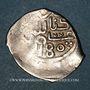Monnaies Maghreb. 'Alawites. Sidi Muhammad III (1171-1204H). Dirham 1180H, Miknas