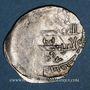 Monnaies Maghreb. Idrissides. Ibrahim b. al-Qasim (vers 270-290 H). Dirham 284H (Asilah)