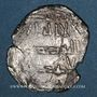 Monnaies Maghreb. Idrissides. Ibrahim b. al-Qasim (vers 270-290H). Dirham, (al-Basra) (Maroc)