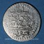Monnaies Maghreb. Ottomans. Mahmoud I (1143-1168H). ¼ de piastre, 1150H, Tunis