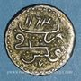 Monnaies Maghreb. Ottomans. Mahmoud I (1143-1168H). Kharub 1163H. Tunis