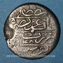 Monnaies Maghreb. Ottomans. Mahmoud I (1143-1168H). Onluk  (1/4 de riyal) 1148H. Tunis