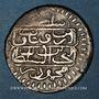 Monnaies Maghreb. Ottomans. Mahmoud I (1143-1168H). Onluk  (1/4 de riyal) 1150H. Tunis