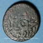 Monnaies Maghreb. Ottomans. Mehmet IV (1058-1099H) 3 burbe bronze, Tunis