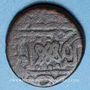 Monnaies Maghreb. Ottomans. Mehmet IV (1058-1099H). 3 burbe bronze, Tunis