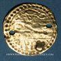 Monnaies Maghreb. Pseudo-monnaie ottomane (XIXe). Or. Type d'un demi de sultani de Mahmoud II (uniface)