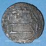 Monnaies Perse. Imitation d'époque en bronze (argenté), inspirée d'un dirham d'al-Muhammadiya 196H