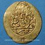 Monnaies Perse. Zands. Karim Khan (1166-1193H = 1753-1779). 1/4 ashrafi or, Kashan