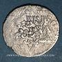 Monnaies Syrie. Ayyoubides d'Alep. al-Nasir Yusuf II (634-658H). Dirham  (655)H, Alep, type enrichi d'un orne