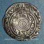 Monnaies Syrie. Fatimides. al-'Aziz (365-386H).  1/2 dirham 3(8)1H. Sur (Tyr)