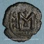 Monnaies Syrie. Monnayage arabo-byzantin. Epoque  Mu'awiya (41-60H). Fals bilingue, Emèse, variante sans  bi
