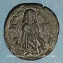 Monnaies Syrie. Monnayage arabo-byzantin. Umayyades. 'Abd al-Malik (65-86H). Fals au calife debout, Alep