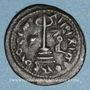 Monnaies Syrie. Monnayage arabo-byzantin. Umayyades. 'Abd al-Malik (65-86H). Fals au calife debout, Homs