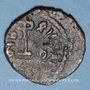 Monnaies Syrie. Monnayage arabo-byzantin. Umayyades. 'Abd al-Malik (65-86H). Fals au calife debout (Manbij ?)