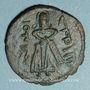 Monnaies Syrie. Monnayage arabo-byzantin. Umayyades. 'Abd al-Malik (65-86H). Fals au calife debout, Manbij