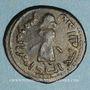 Monnaies Syrie. Monnayage arabo-byzantin. Umayyades. 'Abd al-Malik (65-86H). Fals au calife debout, Qinnasrin