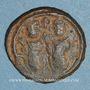 Monnaies Syrie. Monnayage arabo-byzantin. Umayyades. Epoque Mu'awiya (41-60H). Fals bilingue, Baalbek