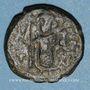 Monnaies Syrie. Monnayage arabo-byzantin. Umayyades. Epoque Mu'awiya (41-60H). Fals bilingue, Damas