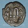 Monnaies Syrie. Monnayage pseudo-byzantin (638-c.670). Follis contremarqué, figure impériale debout