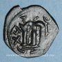 Monnaies Syrie. Monnayage pseudo-byzantin (638-c.670). Follis, figure impériale debout tenant une longue croi