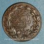 Monnaies Tunisie. Ottomans. Abdoul Aziz & Mohammed el-Sadok (1277-1293H = 1861-1876). 1/4 kharub 1289H