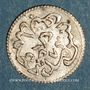 Monnaies Tunisie. Ottomans. Abdoul Mejid (1255-1277H) avec Muhammad Bey. 2 kharub 1273H. Tunis