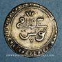 Monnaies Tunisie. Ottomans. Mahmoud I (1143-1168H).  2 kharub 1153H. Tunis