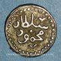 Monnaies Tunisie. Ottomans. Mahmoud I (1143-1168H). Kharub 1166H. Tunis