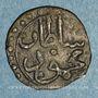 Monnaies Tunisie. Ottomans. Mahmoud II (1223-1255H). Kharub 1249H. Tunis