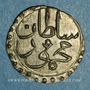 Monnaies Tunisie. Ottomans. Mahmoud II (1223-1255H). Kharub 1254H. Tunis