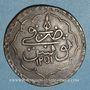 Monnaies Tunisie. Ottomans. Mahmud II (1223-1255H). Piastre 1251H. Tunis