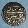 Monnaies Tunisie. Ottomans. Mustafa III (1171-1187H). Kharub 1173H. Tunis