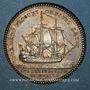 Monnaies Académie de Marine. Jeton argent 1778
