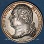 Monnaies Académie Française. Louis XVIII. Jeton argent, signé : E. Gatteaux. Sans poinçon