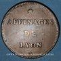 Monnaies Affinages de Lyon. Jeton cuivre 1744
