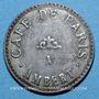 Monnaies Ambert (63). Café de Paris. jeton publicitaire. Carton recouvert de deux plaques de zinc